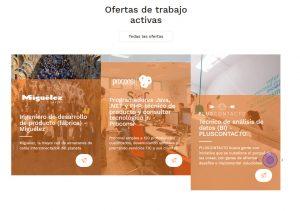 Pantallazo ofertas de empleo en la web