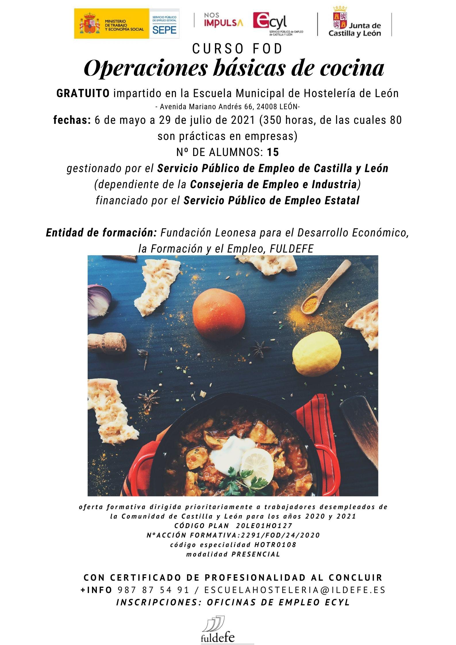 Cartel FOD Cocina mayo 2021