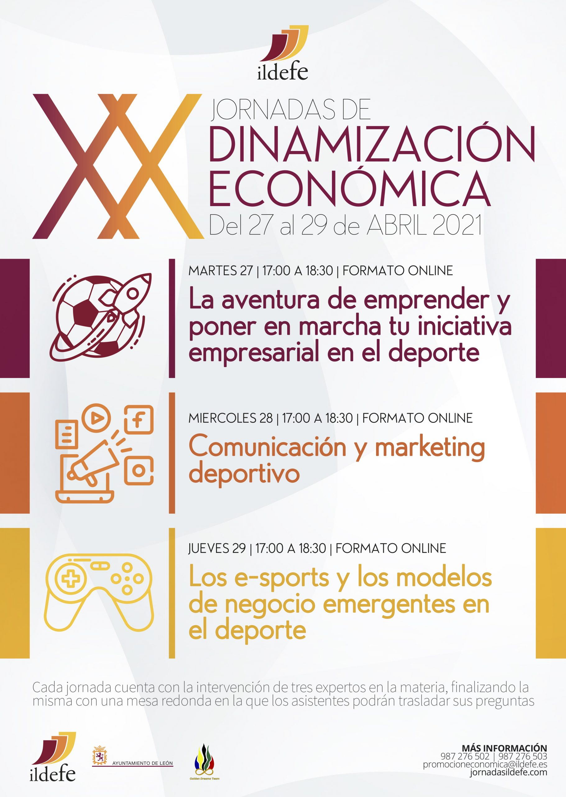 Cartel XX edición Jornadas Ildefe