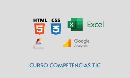 Habilidades TIC: formación en HTML, CSS, Google Analytics y Excel (plazas libres en horario de tarde)