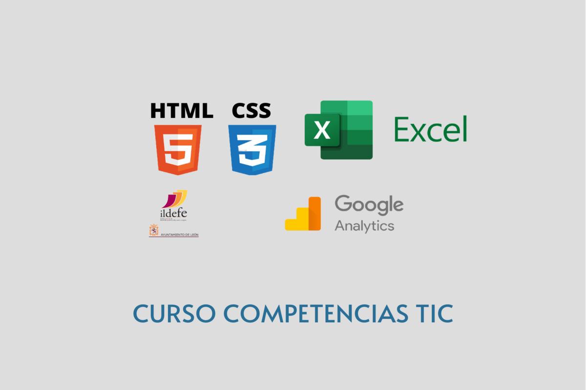 Habilidades TIC: formación en HTML, CSS, Google Analytics y Excel (mañana o tarde)